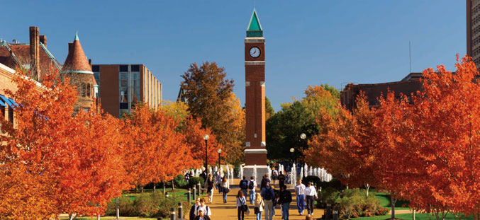 Clocktower In Fall